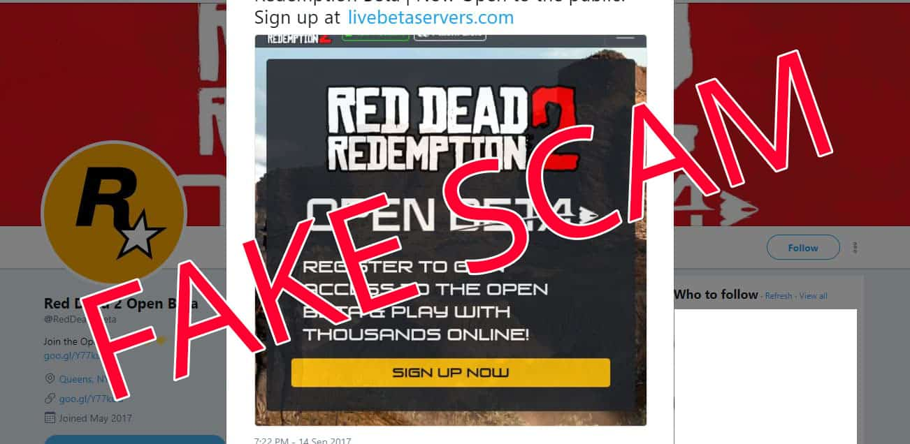 Psa Red Dead Redemption 2 Open Beta Is Fake Rdr2 Org