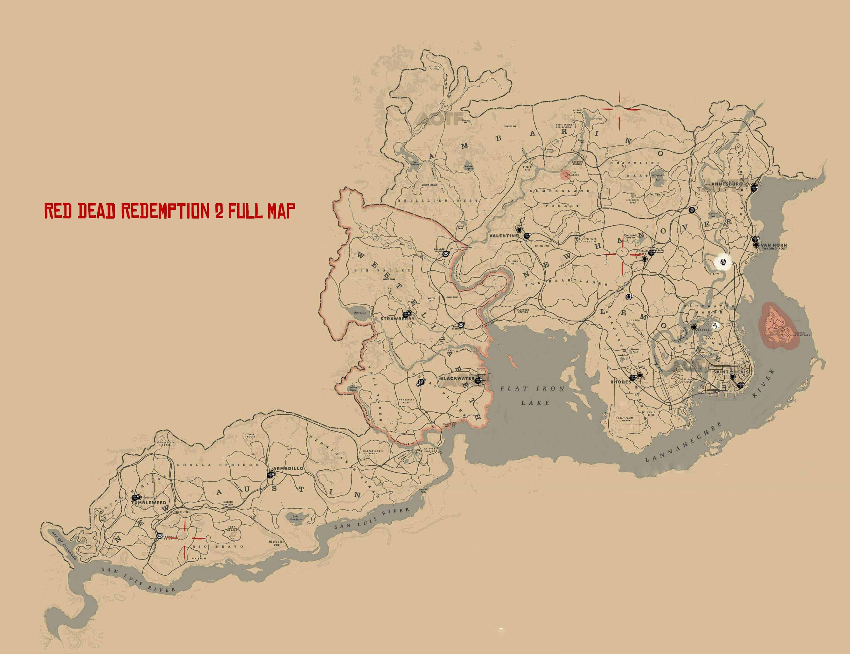 red dead redemption 2 flat iron lake